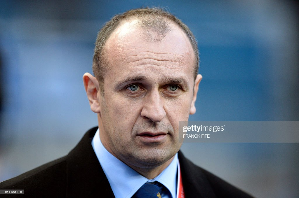 France's head coach Philippe Saint Andre looks on before a Six Nations rugby union match between France and Wales on February 9, 2013 at the Stade de France in Saint-Denis, near Paris.