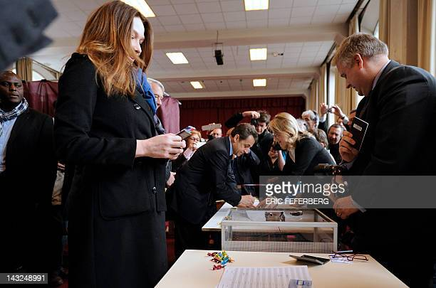 France's incumbent President and right-wing ruling party Union for a Popular Movement candidate for the French 2012 presidential election Nicolas...