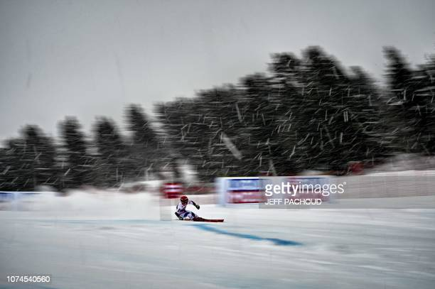 TOPSHOT France's Jade Grillet Aubert competes in the FIS Alpine World Cup Women Giant Slalom on December 21 2018 in Courchevel French Alps