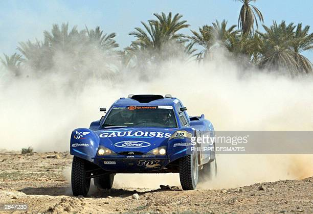 France's JeanLouis Schlesser steers his FordRaid during the 6th stage between Ouarzazate and TanTan in Morocco of the 26th Dakar rally raid 06...