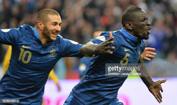 France's Joy Mamadou Sakho during the 2014 FIFA World Cup Europe Group playoff football match France Vs Ukraine at Stade de France in SaintDenis...