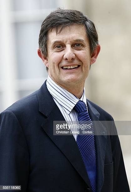 France's Junior Minister for European Affairs Jean-Pierre Jouyet arrives at the Elysee Palace to attend the first weekly cabinet meeting of the...