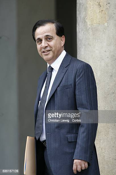 France's Junior Minister for Parliament Relations Roger Karoutchi arrives at the Elysee Palace to attend the first weekly cabinet meeting of the...