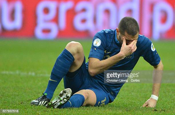 France's Karim Benzema during the FIFA 2014 World Cup qualifying round group I soccer match, France Vs Spain at Stade de France in Saint-Denis suburb...