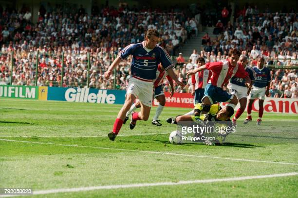 France's Laurent Blanc during a round of 16 match of the 1998 FIFA World Cup against Paraguay.