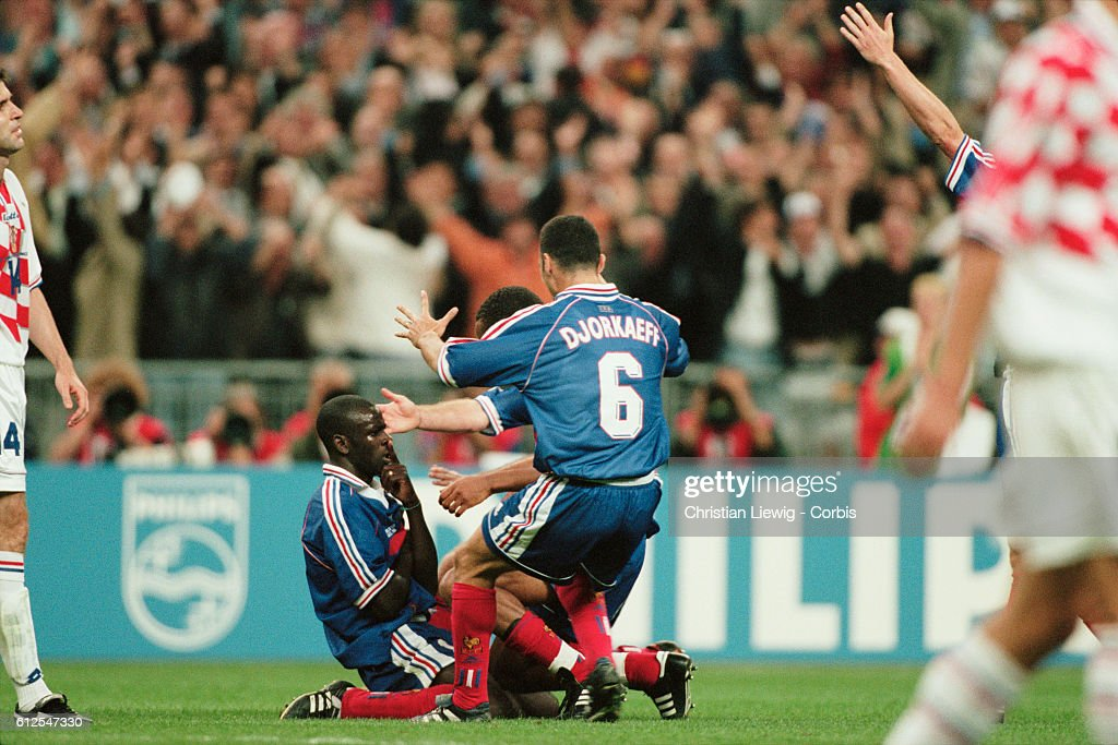 Soccer - 1998 World Cup - Semi-Final - France vs Croatia : News Photo