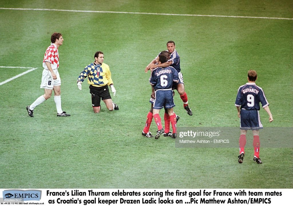 Soccer - World Cup France 98 - Semi Final - France v Croatia : News Photo