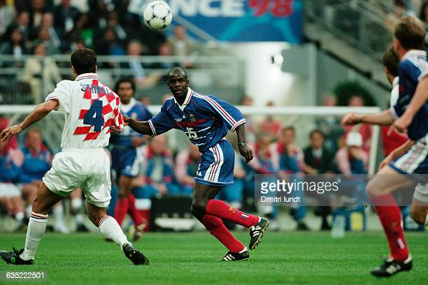 France's Lilian Thuram during a semifinal match of the 1998 FIFA World Cup against Croatia | Location SaintDenis France