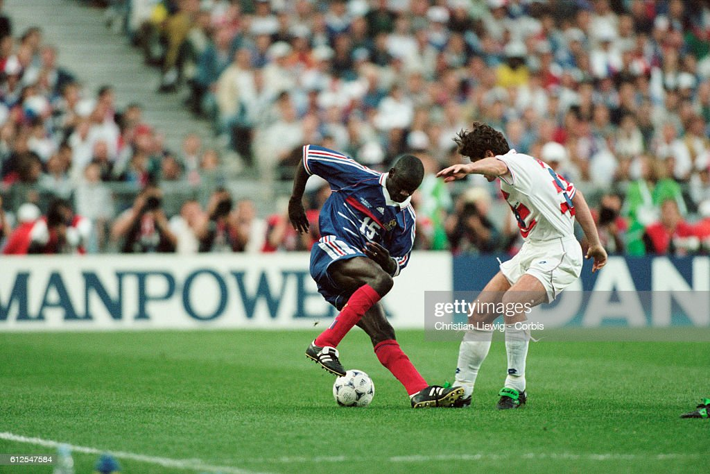 Soccer - 1998 World Cup - Semi-Final - France vs Croatia : News Photo