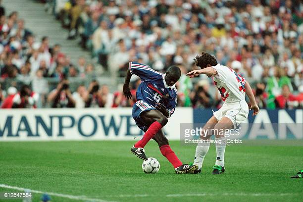 France's Lilian Thuram during a semifinals match of the 1998 FIFA World Cup against Croatia | Location SaintDenis France