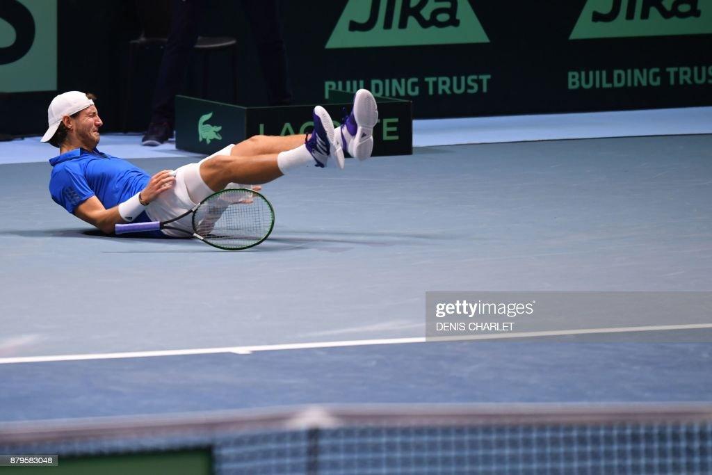 TENNIS-DAVIS-CUP-FRA-BEL : News Photo