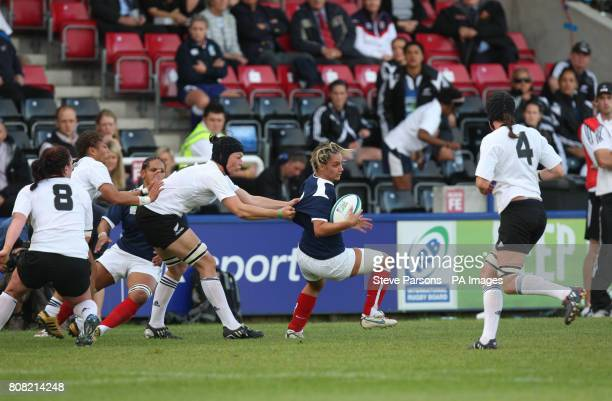 France's Marie Alice Yahe takes on New Zealand during the Women's Rugby World Cup Semi Finals at Twickenham Stoop Twickenham