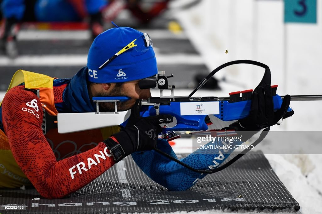 KOR: Biathlon - Winter Olympics Day 14