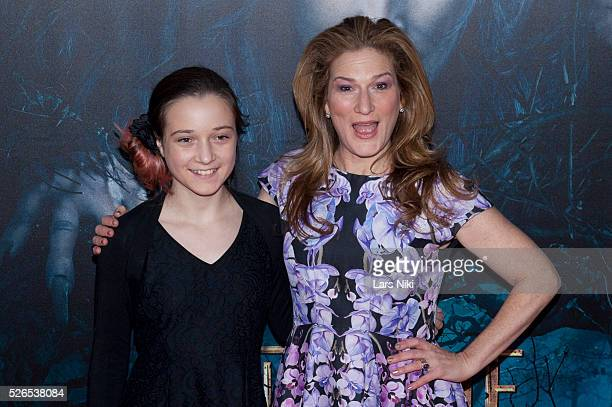 "Frances Mary Mckittrick and Ana Gasteyer attend the ""Into the Woods"" premiere at the Ziegfeld Theater in New York City. �� LAN"