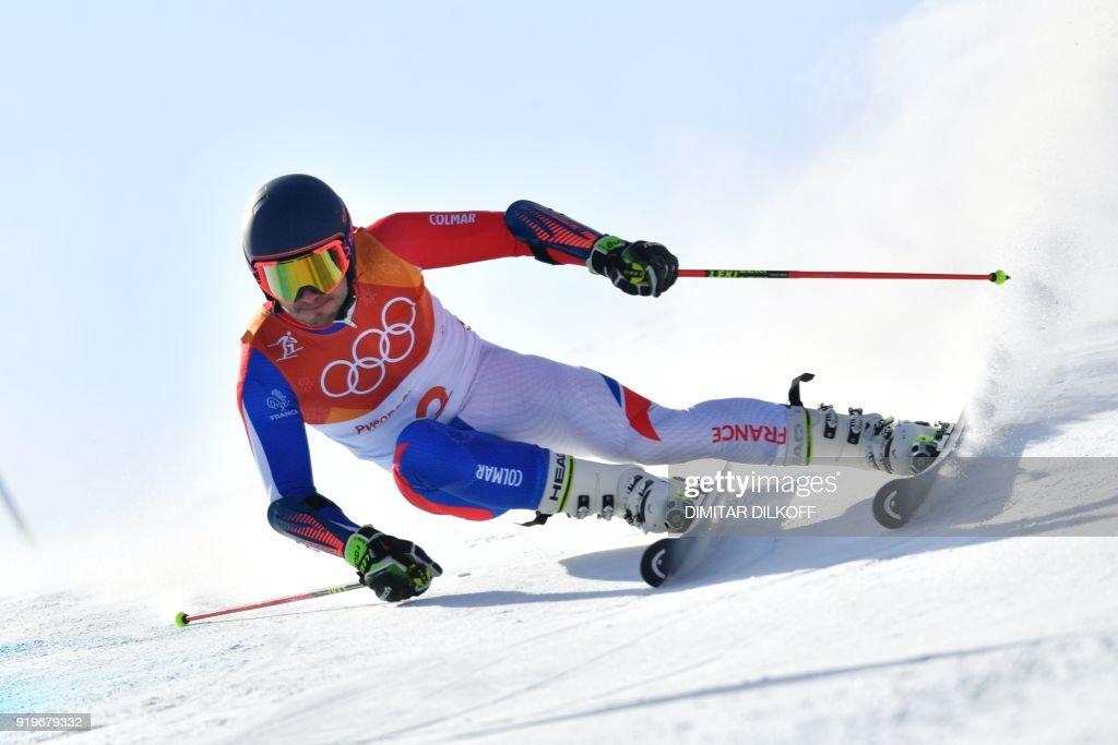 TOPSHOT-ALPINE-SKIING-OLY-2018-PYEONGCHANG : News Photo