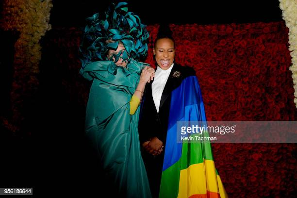 Frances McDermond and Lena Waithe attend the Heavenly Bodies Fashion The Catholic Imagination Costume Institute Gala at The Metropolitan Museum of...
