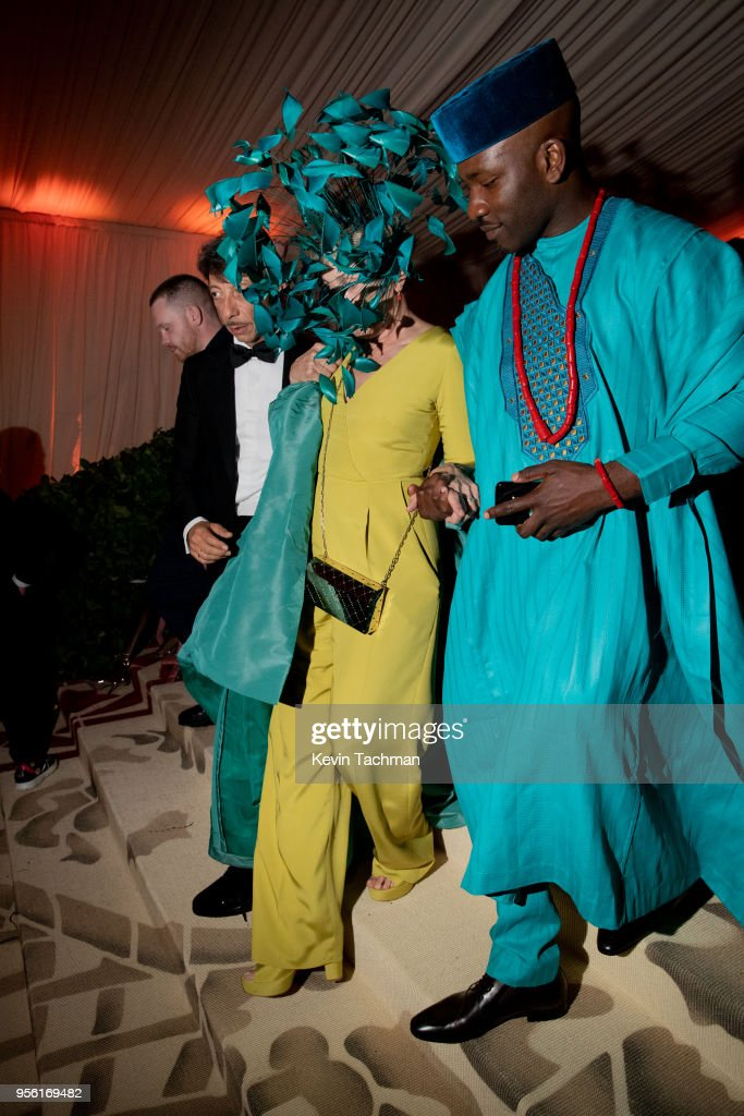 Frances McDormand (L) and attend the Heavenly Bodies: Fashion & The Catholic Imagination Costume Institute Gala at The Metropolitan Museum of Art on May 7, 2018 in New York City.