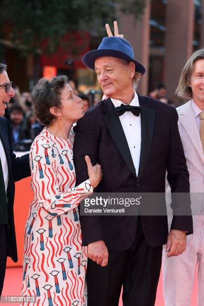 Frances McDormand and Bill Murray walk a red carpet during the 14th Rome Film Festival on October 19 2019 in Rome Italy