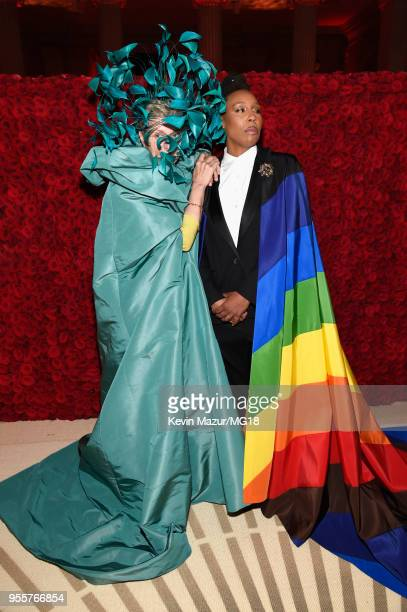 Frances McDormand and Lena Waithe attend the Heavenly Bodies Fashion The Catholic Imagination Costume Institute Gala at The Metropolitan Museum of...