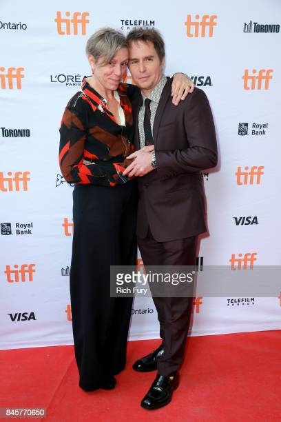 Frances McDormand and Sam Rockwell attend the 'Three Billboards Outside Ebbing Missouri' premiere during the 2017 Toronto International Film Festival...