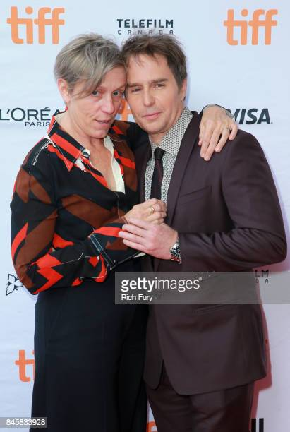 Frances McDormand and Sam Rockwell attend the Three Billboards Outside Ebbing Missouri premiere during the 2017 Toronto International Film Festival...