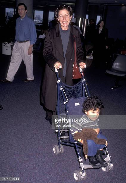 Frances McDormand and son Pedro Coen during Frances McDormand Sighting at Los Angeles International Airport December 1 1996 at Los Angeles...