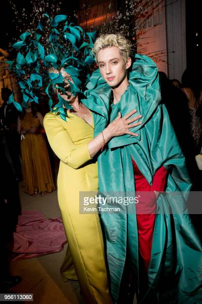 Frances McDormand and Troye Sivan attend the Heavenly Bodies Fashion The Catholic Imagination Costume Institute Gala at The Metropolitan Museum of...