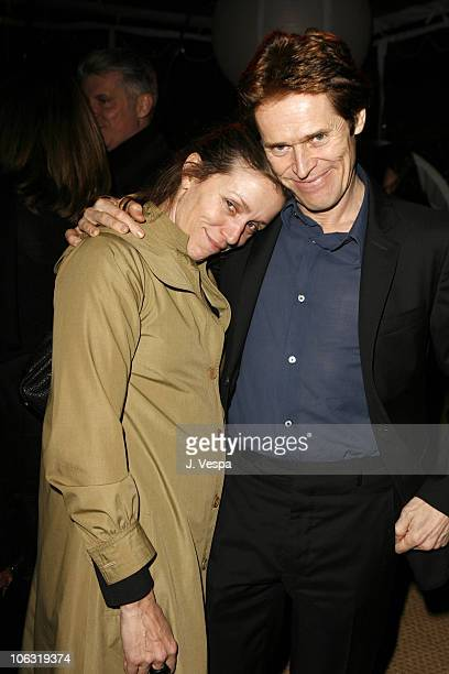 Frances McDormand and Willem Dafoe during Endeavor 2006 PreOscar Party in Los Angeles California United States