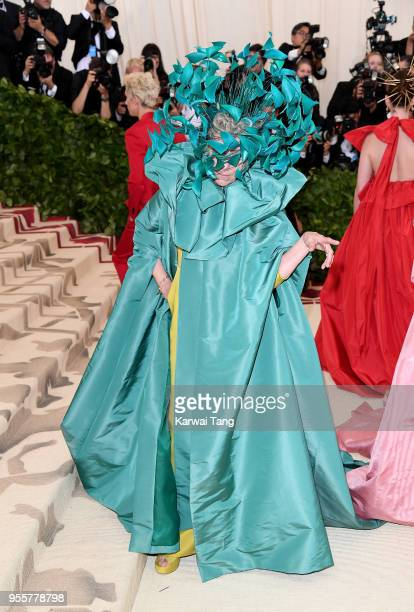 Frances McDormand attends Heavenly Bodies Fashion The Catholic Imagination Costume Institute Gala at the Metropolitan Museum of Art on May 7 2018 in...