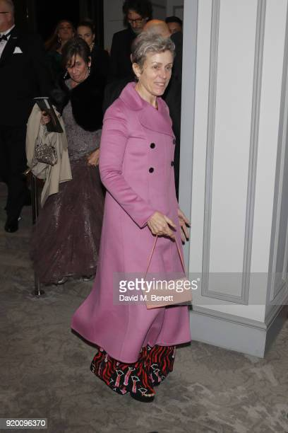 Frances McDormand attends the EE British Academy Film Awards gala dinner held at Grosvenor House on February 18 2018 in London England