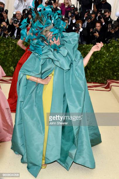 Frances McDormand attends the Heavenly Bodies Fashion The Catholic Imagination Costume Institute Gala at The Metropolitan Museum of Art on May 7 2018...