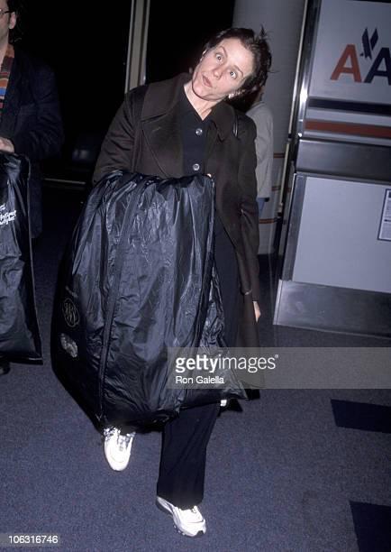 Frances McDormand during Frances McDormand Sighting at Los Angeles International Airport March 22 1998 at Los Angeles International Airport in Los...