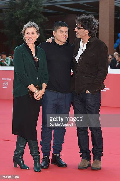 Frances McDormand Pedro McDormand Coen and Joel Coen walk the red carpet during the 10th Rome Film Fest at Auditorium Parco Della Musica on October...