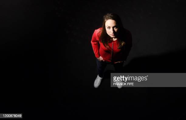 France's midfielder Gaetane Thiney, poses during a photo session after an interview in Paris, on February 11, 2020.