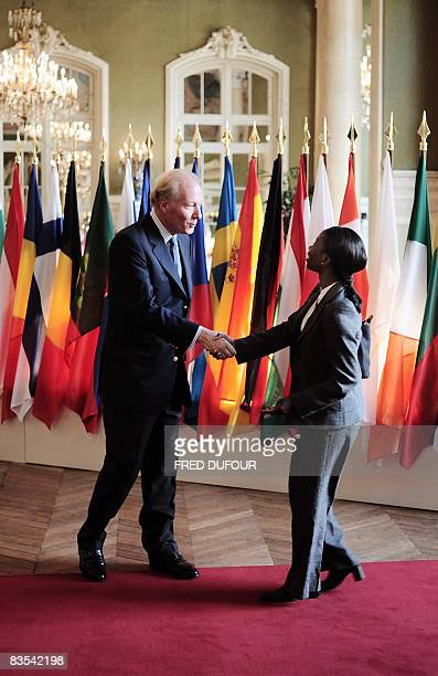 France's minister of immigration integration and national identity Brice Hortefeux welcomes Sweden's minister of integration and gender equality...