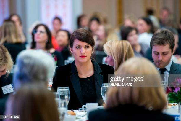 France's minister of state for gender equality Marlene Schiappa attends the Women in Corporate Leadership Initiative at the New York Stock Exchange...