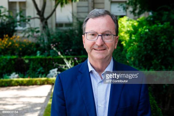 France's Modem party's MP Vincent Bru poses on June 22 2017 at the French National Assembly in Paris for the welcoming of the newlyelected MPs...