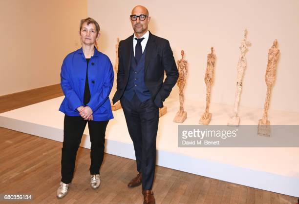 Frances Morris director of Tate Modern and Stanley Tucci host a private view of the Giacometti exhibition ahead of the August 4th release of 'Final...