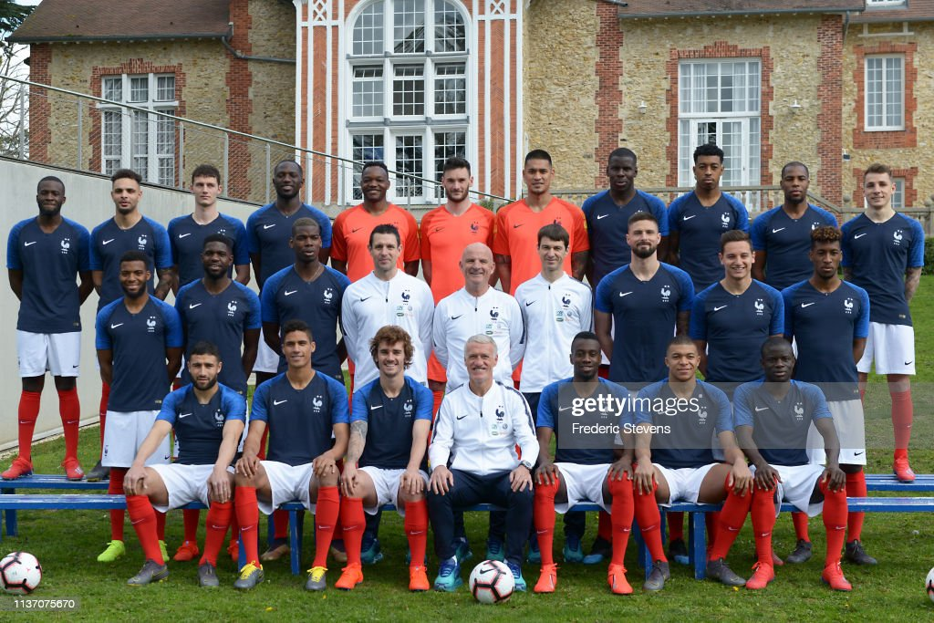 FRA: France Soccer Team Poses At Clairefontaine