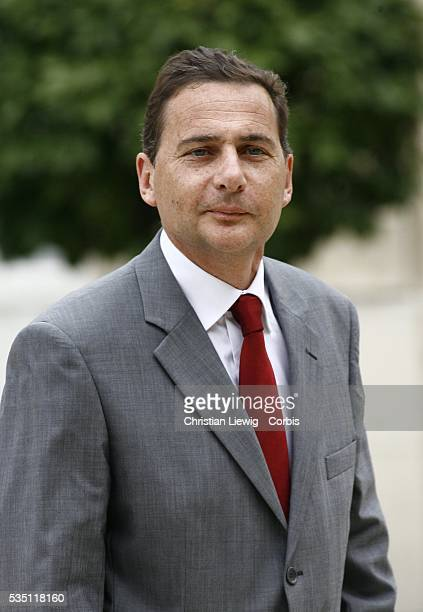 France's newly-appointed Junior Minister for Public Policy Eric Besson arrives at the Elysee Palace to attend the first weekly cabinet meeting.
