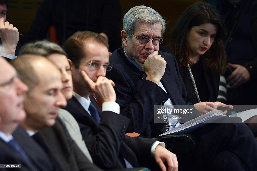 Areva Presents Its Annual Results At La Defense In Paris