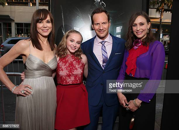 Frances O'Connor Madison Wolfe Patrick Wilson and Vera Farmiga attend the Los Angeles Film Festival 'The Conjuring 2' Premiere at TCL Chinese Theatre...