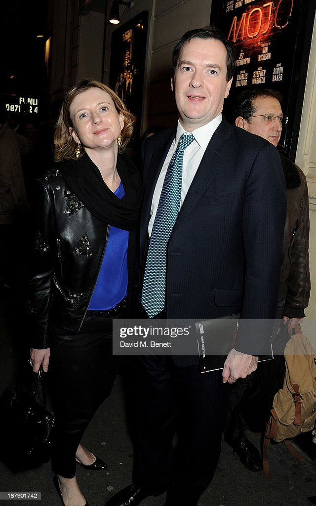 Frances Osborne (L) and Chancellor George Osborne attend an after party celebrating the press night performance of 'Mojo' at Cafe de Paris on November 13, 2013 in London, England.