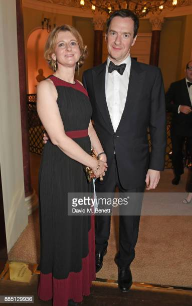 Frances Osborne and George Osborne attend a drinks reception ahead of the London Evening Standard Theatre Awards 2017 at the Theatre Royal Drury Lane...