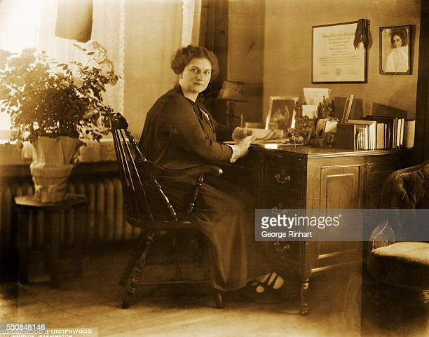 Frances Parkinson Keyes American author is shown several months after having received the French Croix de Guerre for her article on the occupation of...