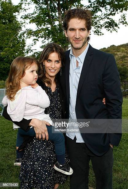 Frances Pen Benioff Actress Amanda Peet and Writer David Benioff attend Michael J Fox Foundation For Parkinson's Research Summer Lawn Party held at a...
