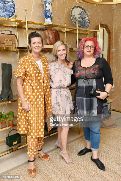 Frances Pennington Jane Buckingham and Jenji Kohan attend Glamour x Tory Burch Women To Watch Lunch on September 15 2017 in Beverly Hills California