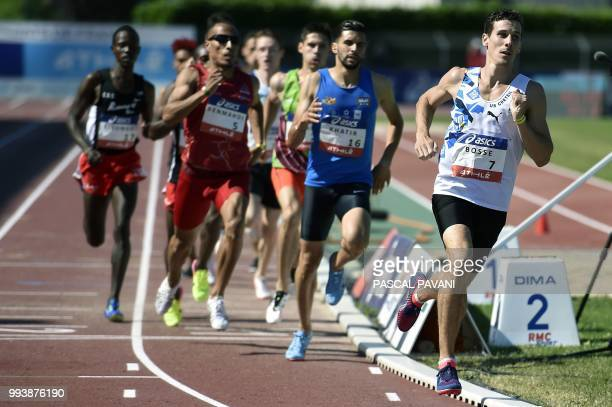 France's Pierre-Ambroise Bosse competes in the final men's 800 meters during the French Elite Athletics Championships in Albi, south-western France...