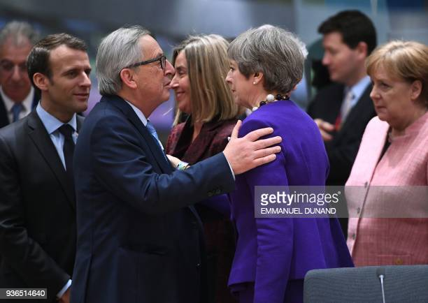 France's President Emmanuel Macron European Commission President JeanClaude Juncker EU's High representative for foreign affairs and security policy...