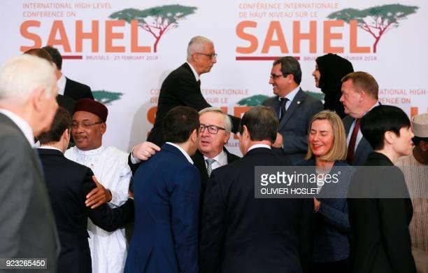 France's President Emmanuel Macron Niger's President Mahamadou Issoufou Greece's Prime minister Alexis Tsipras European Commission President...
